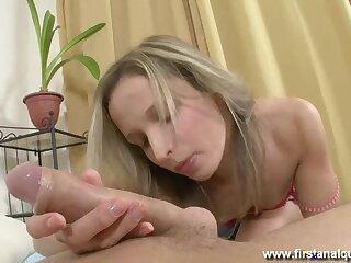 Teen hottie will be loose her anal virginity today