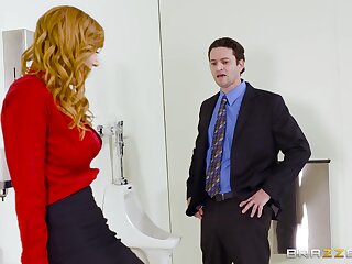 Aroused MILF strips before office yon fuck with be transferred yon new panhandler