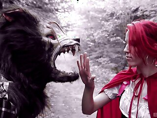 Day-dream sex in the woods with Brind Love as Red Riding Hood
