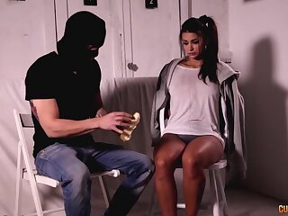 Dude to black mask fucks pretty girlfriend Susi Gala with an increment of cums to her indiscretion