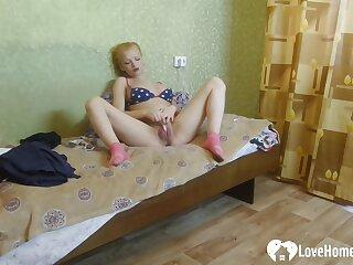 Lovely Blonde Stepsister Caught Masturbating On Camera
